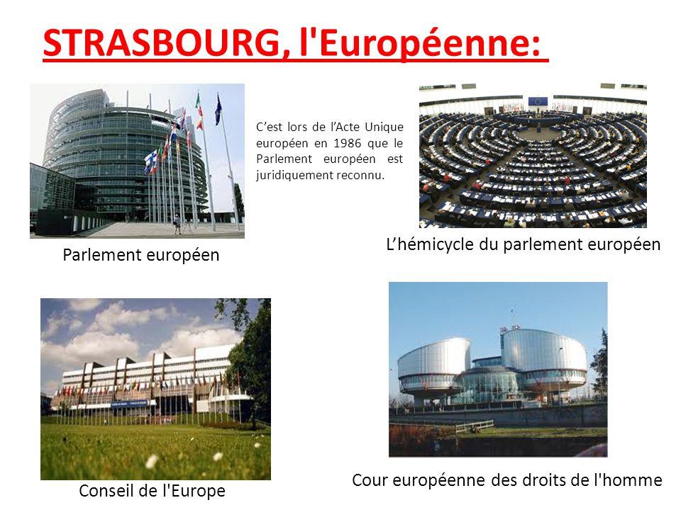 STRASBOURG, l'Européenne: Parlement européen Lhémicycle du parlement européen Conseil de l'Europe Cour européenne des droits de l'homme Cest lors de l