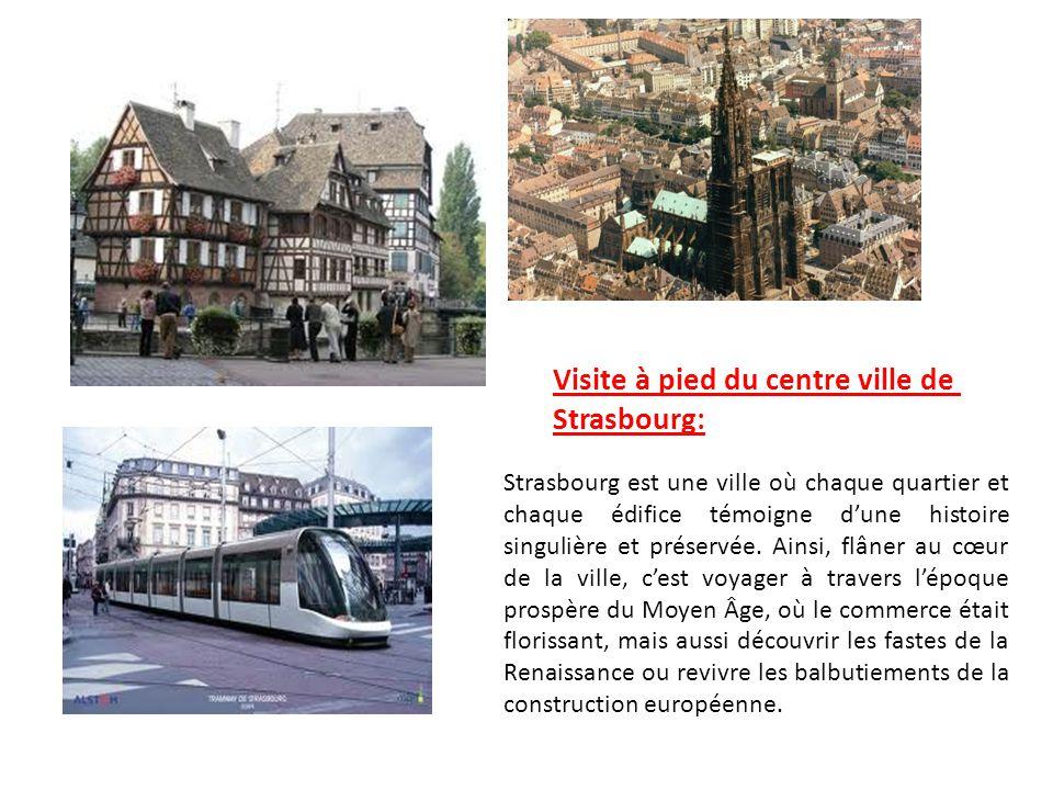 Visite à pied du centre ville de Strasbourg: Strasbourg est une ville où chaque quartier et chaque édifice témoigne dune histoire singulière et préser