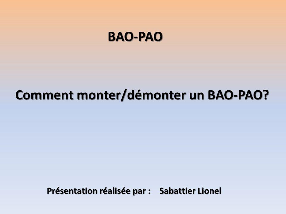 Comment monter/démonter un BAO-PAO? BAO-PAO Présentation réalisée par : Sabattier Lionel