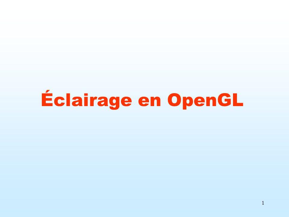 1 Éclairage en OpenGL
