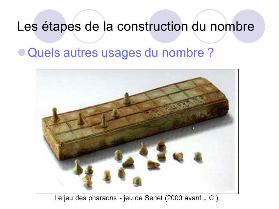 Les étapes de la construction du nombre « Jinvente le nombre » Cest lémergence du besoin, dune nécessité.