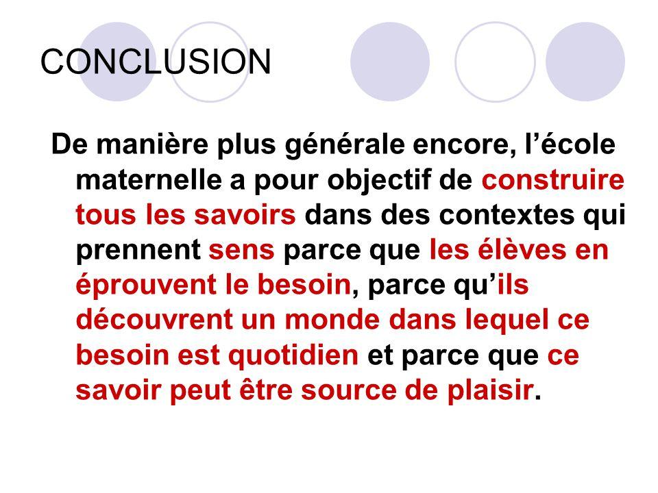 Références R.Brissiaud, Premiers pas vers les maths, RETZ, 2007.
