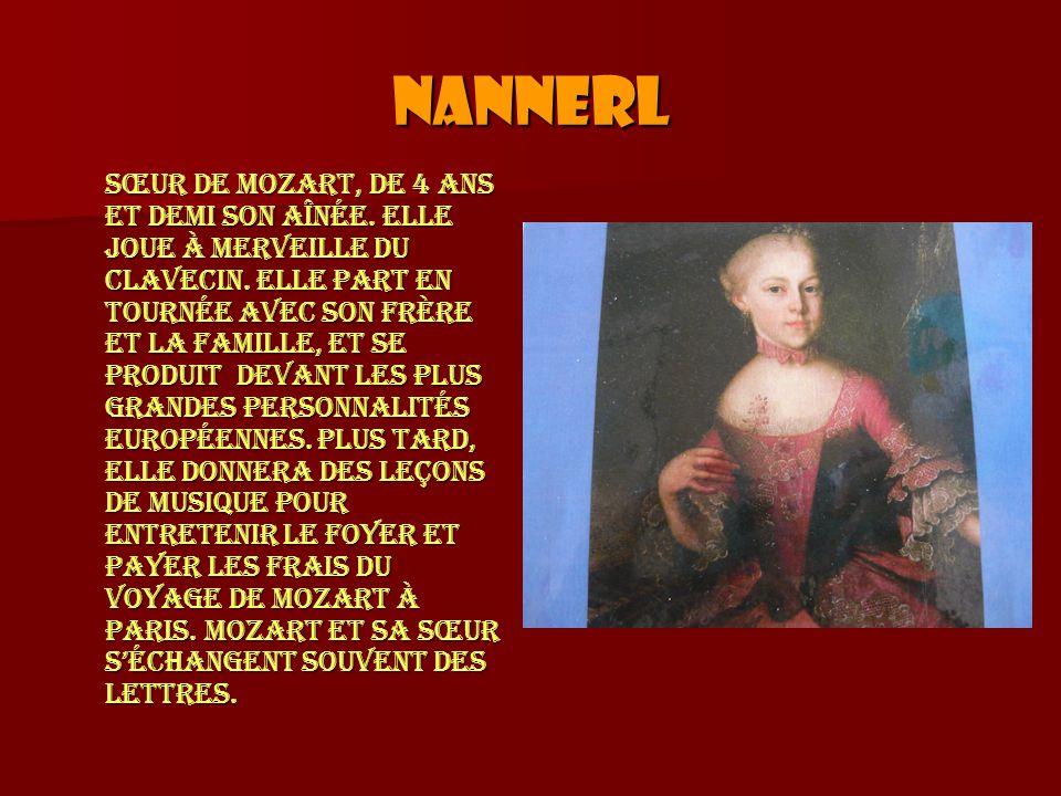 Nannerl Sœur de Mozart, de 4 ans et demi son aînée.