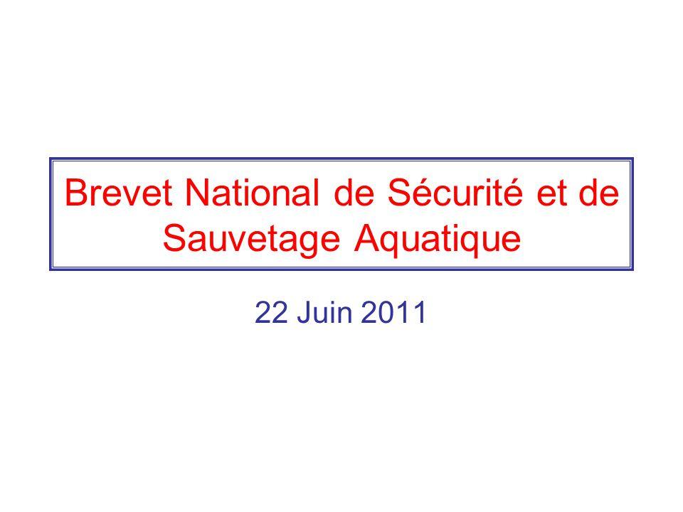 Brevet National de Sécurité et de Sauvetage Aquatique 22 Juin 2011