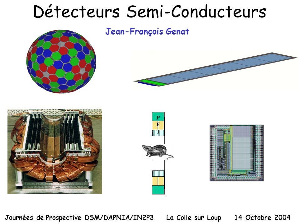 Détecteurs Semi-Conducteurs Journées de Prospective DSM/DAPNIA/IN2P3 La Colle sur Loup 14 Octobre 2004 PETPET Jean-François Genat