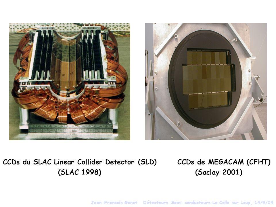 CCDs du SLAC Linear Collider Detector (SLD) CCDs de MEGACAM (CFHT) (SLAC 1998) (Saclay 2001) Jean-Francois Genat Détecteurs-Semi-conducteurs La Colle sur Loup, 14/9/04