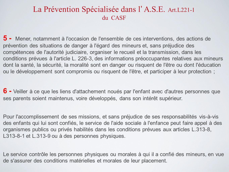 3 – La Prévention spécialisée dans le Var http://www.prevention-specialisee- var.fr/ Lien Local