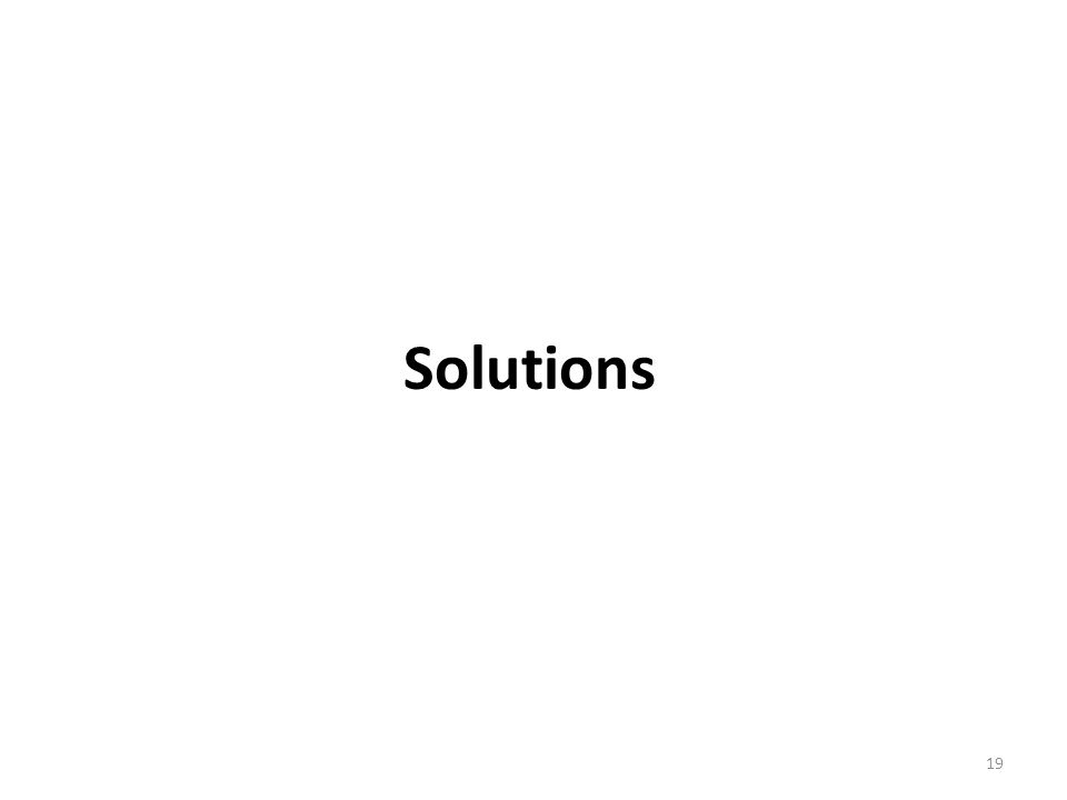 Solutions 19