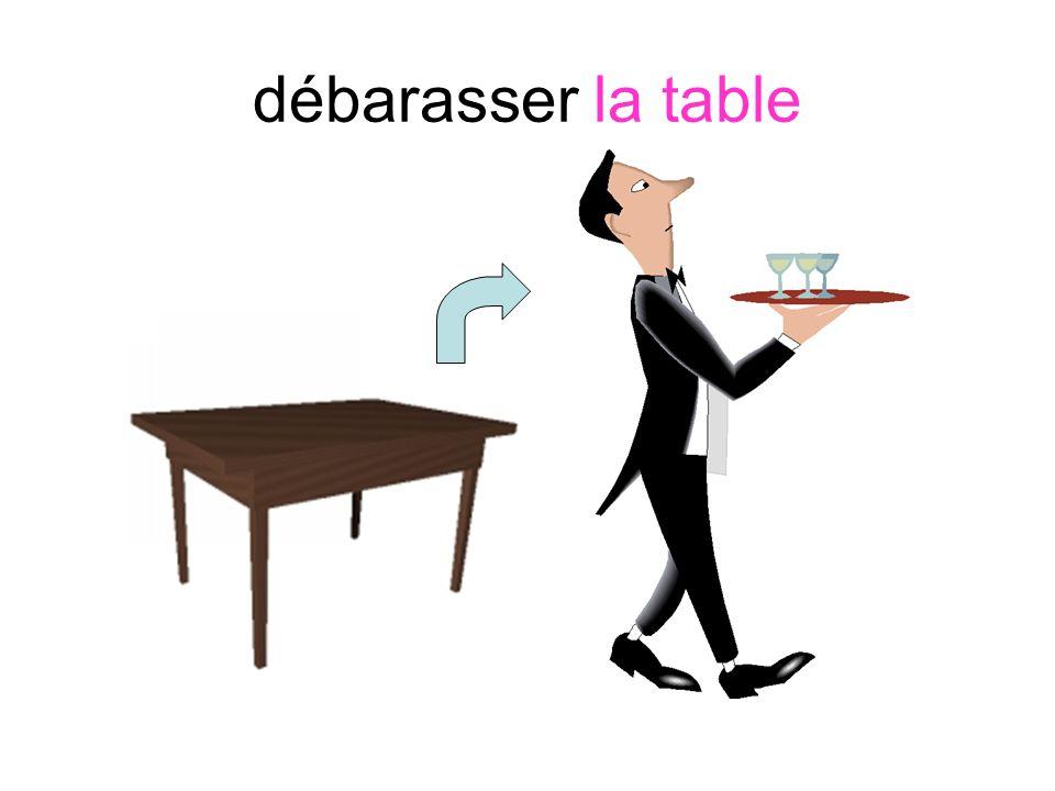 débarasser la table