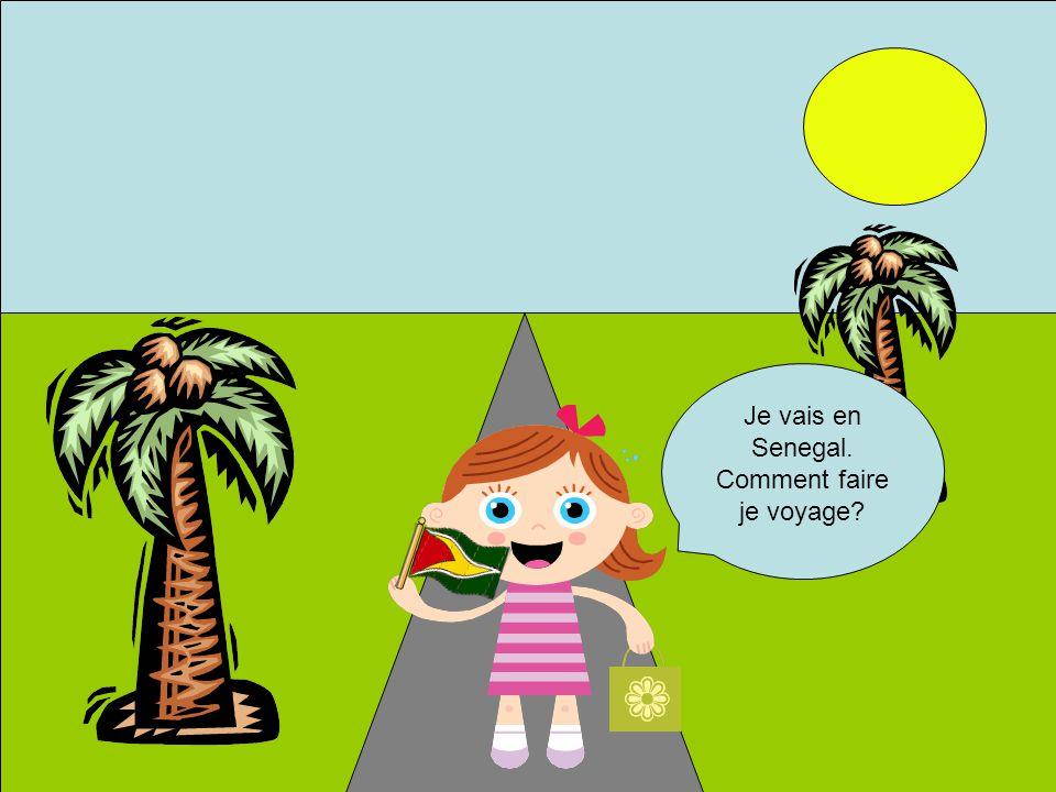 Je vais en Senegal. Comment faire je voyage