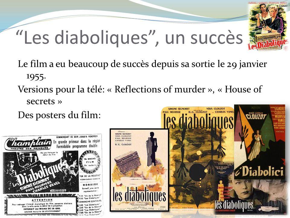 Les diaboliques, un succès Le film a eu beaucoup de succès depuis sa sortie le 29 janvier 1955.