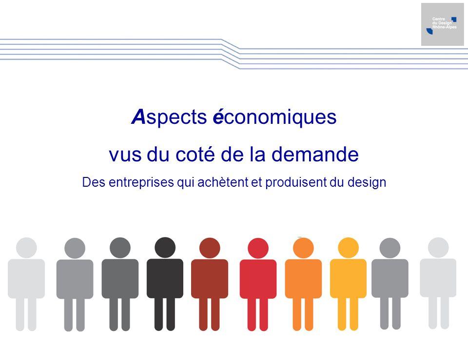 Aspects économiques vus du coté de la demande Des entreprises qui achètent et produisent du design
