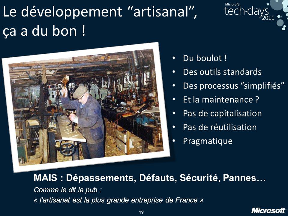 19 Le développement artisanal, ça a du bon .Du boulot .