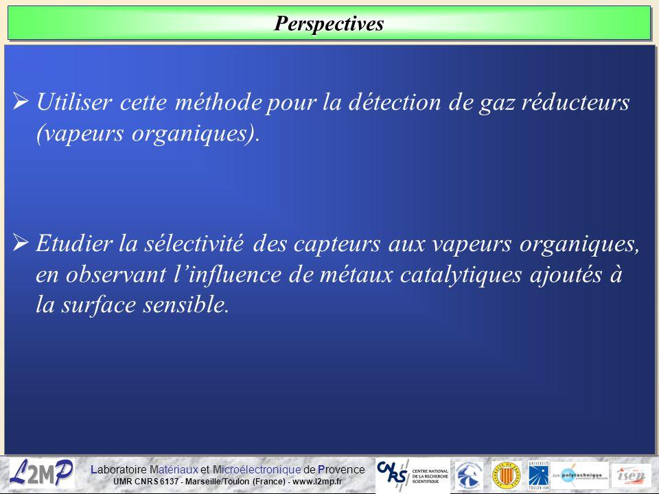 Laboratoire Matériaux et Microélectronique de Provence UMR CNRS 6137 - Marseille/Toulon (France) - www.l2mp.fr Utiliser cette méthode pour la détectio