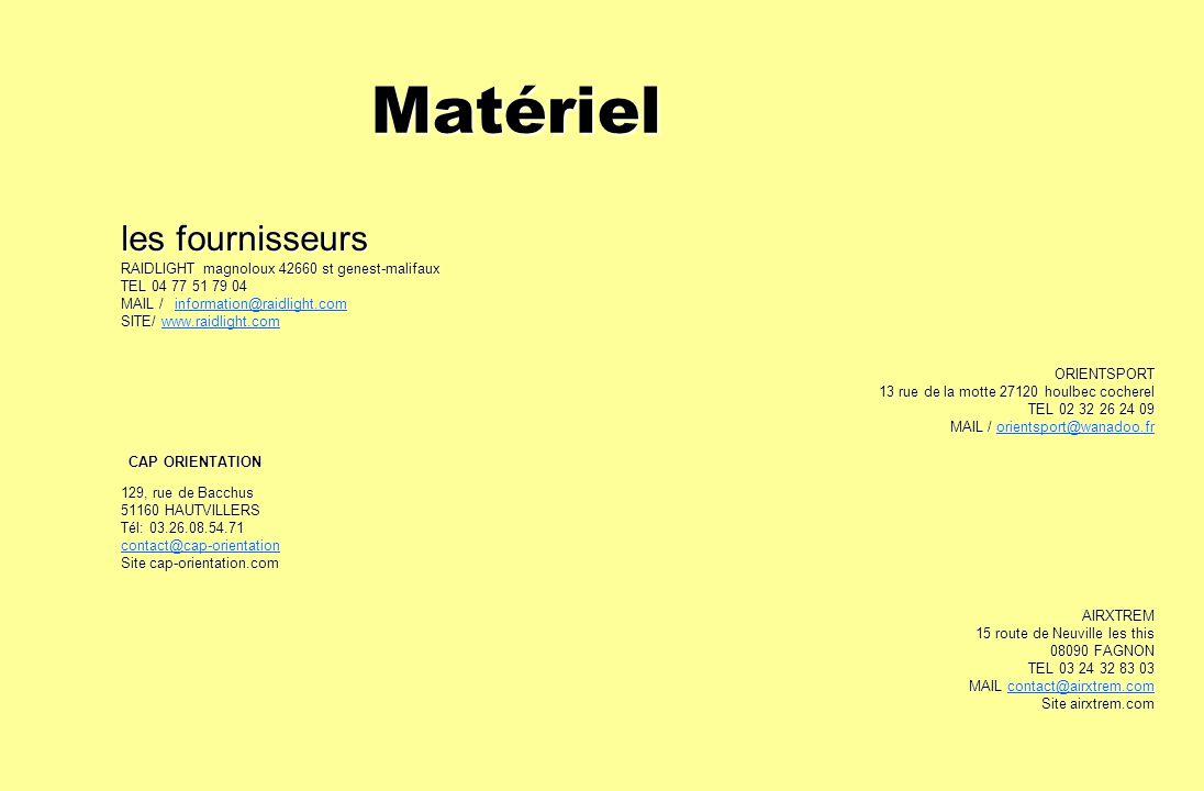 Matériel Matériel les fournisseurs RAIDLIGHT magnoloux 42660 st genest-malifaux TEL 04 77 51 79 04 MAIL / information@raidlight.com information@raidli