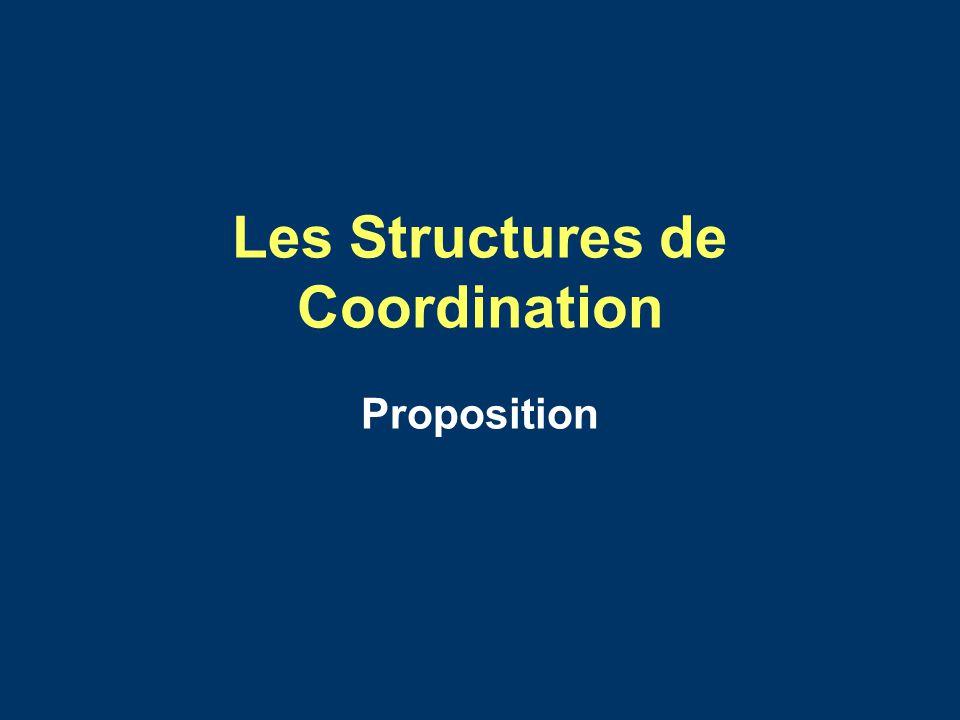 Les Structures de Coordination Proposition