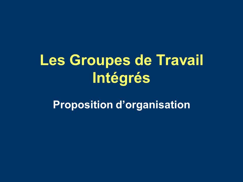 Les Groupes de Travail Intégrés Proposition dorganisation