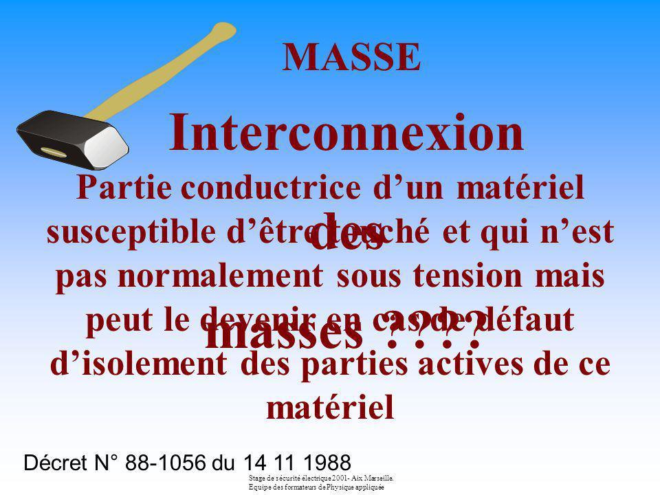 Terre IT EXEMPLE Le régime Stage de sécurité électrique 2001- Aix Marseille. Equipe des formateurs de Physique appliquée