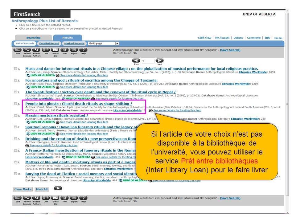 Si larticle de votre choix nest pas disponible à la bibliothèque de luniversité, vous pouvez utiliser le service Prêt entre bibliothèques (Inter Library Loan) pour le faire livrer Si larticle de votre choix nest pas disponible à la bibliothèque de luniversité, vous pouvez utiliser le service Prêt entre bibliothèques (Inter Library Loan) pour le faire livrer