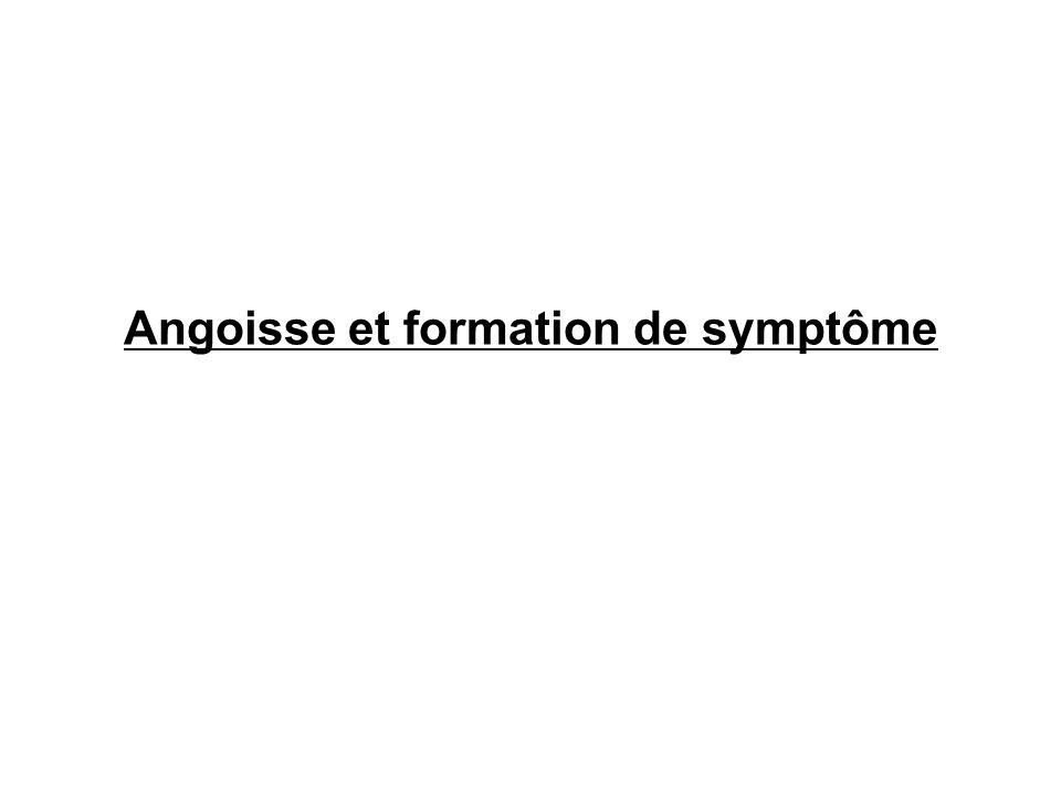 Angoisse et formation de symptôme