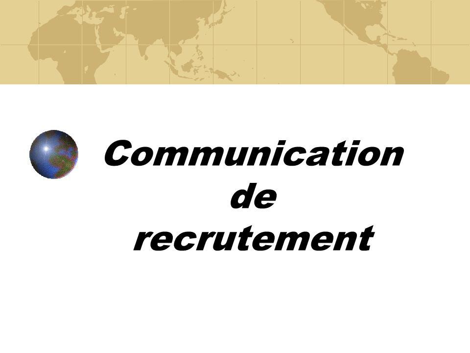 Communication de recrutement