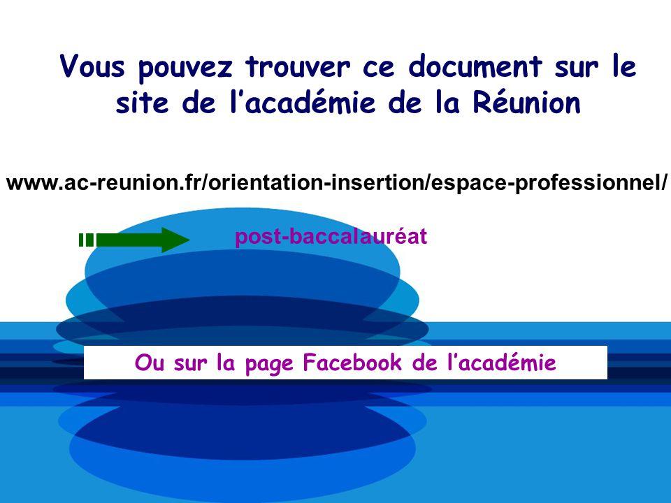 Vous pouvez trouver ce document sur le site de lacadémie de la Réunion www.ac-reunion.fr/orientation-insertion/espace-professionnel/ post-baccalauréat