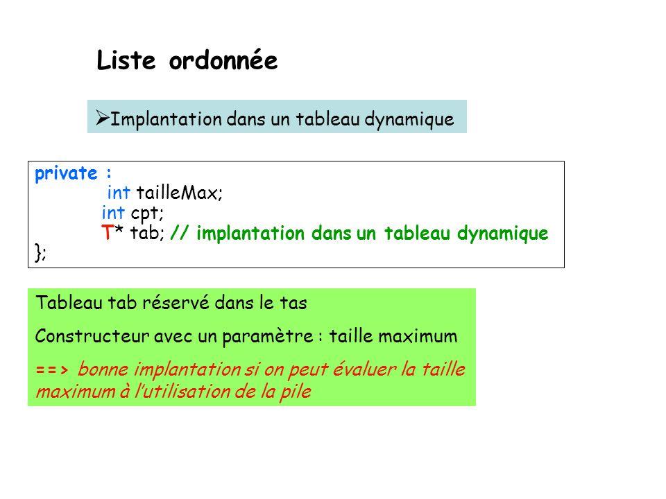 Un tableau alloué du monceau (tas ou heap) Taille décidé par lutilisateur #include using namespace std; #pragma warning( disable : 4290 ) #define MAX_