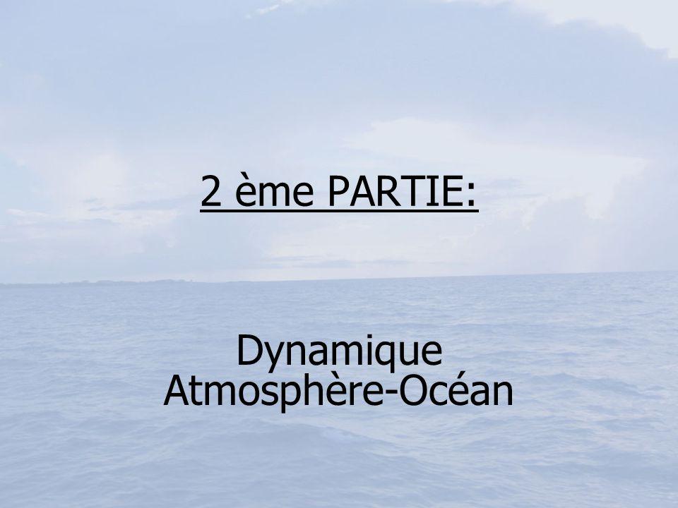 2 ème PARTIE: Dynamique Atmosphère-Océan