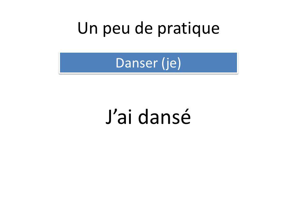 Un peu de pratique Danser (je) Jai dansé