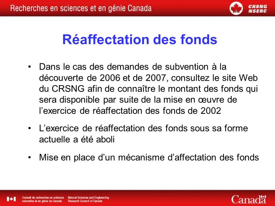 Bureaux régionaux du CRSNG Rôle Assurer une présence visible dans la région Stimuler la participation aux programmes Participer à des activités de promotion de léducation en sciences et en mathématiques Situation Atlantique – Moncton (N.-B.) : ouvert depuis juillet 2004 Prairies – Winnipeg (Man.) : ouvert depuis juillet 2005 Colombie-Britannique – emplacement à déterminer : ouverture prévue à la fin de 2005 Ontario et Québec – emplacements à déterminer : 2006-2007