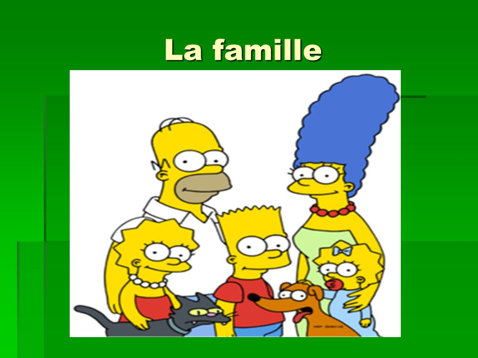 La famille: les objectifs Today you will learn how to: introduce members of your family in French, say what they are called, say my in French.