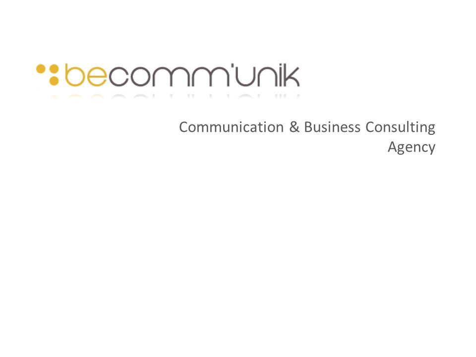 Communication & Business Consulting Agency