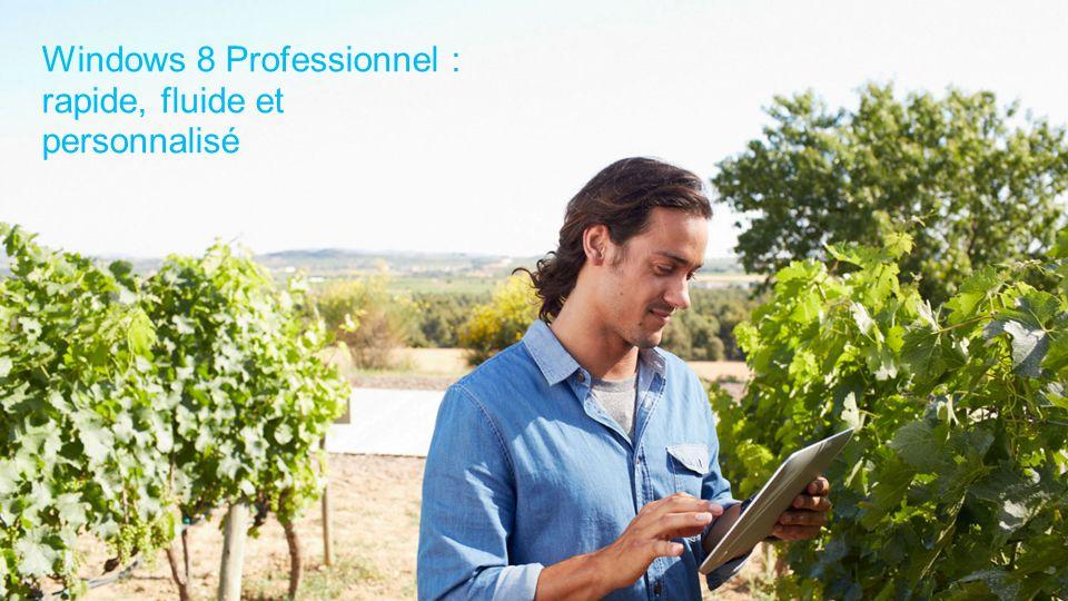 Windows 8 Professionnel : rapide, fluide et personnalisé