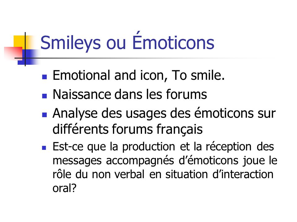 Smileys ou Émoticons Emotional and icon, To smile.