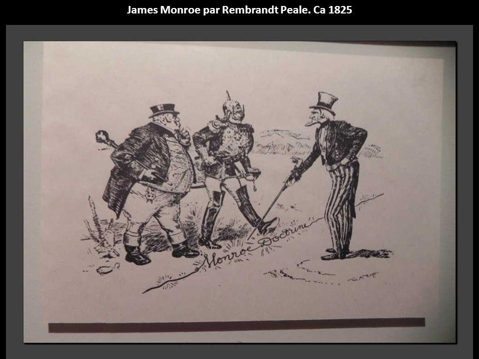 James Monroe par Rembrandt Peale. Ca 1825