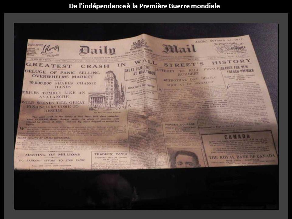 De l'indépendance à la Première Guerre mondiale