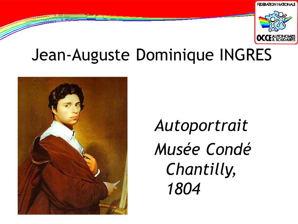 Jean-Auguste Dominique INGRES Autoportrait Musée Condé Chantilly, 1804