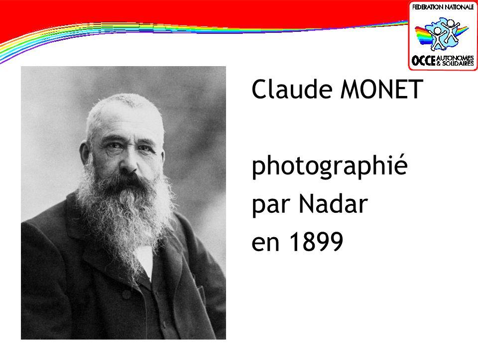 Claude MONET photographié par Nadar en 1899