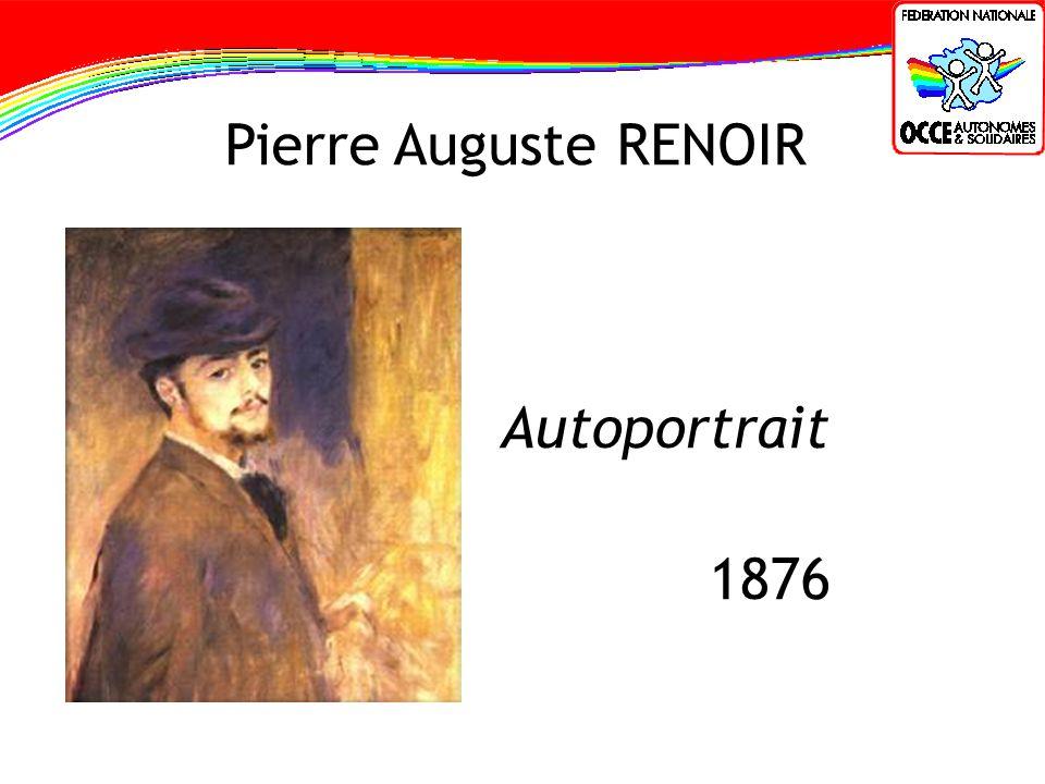 Pierre Auguste RENOIR Autoportrait 1876