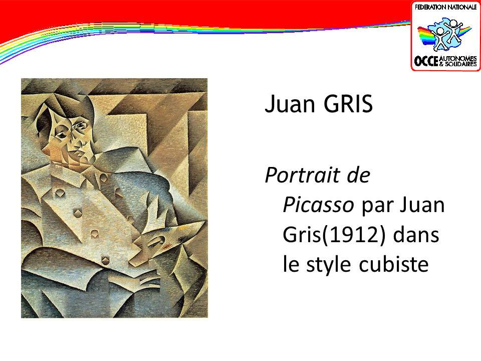 Juan GRIS Portrait de Picasso par Juan Gris(1912) dans le style cubiste
