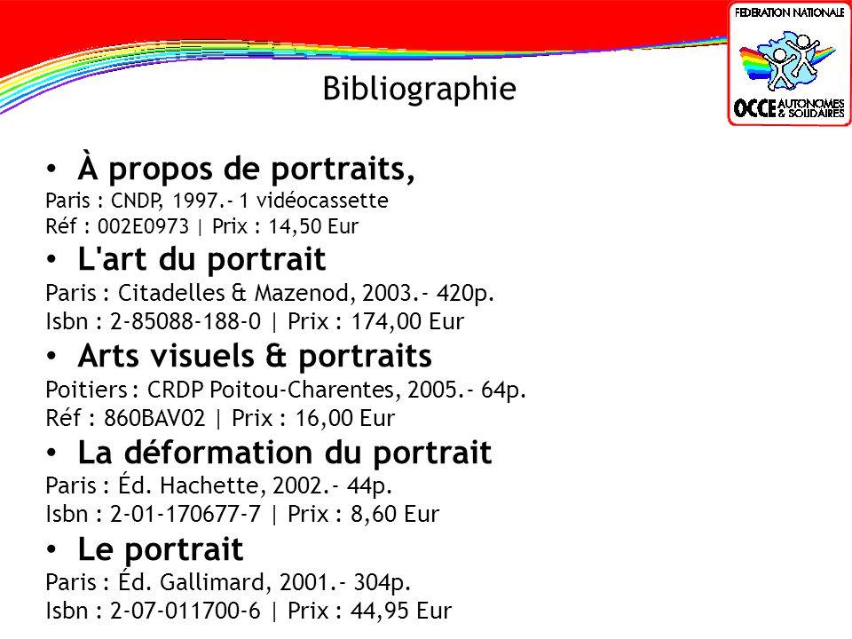 Bibliographie À propos de portraits, Paris : CNDP, 1997.- 1 vidéocassette Réf : 002E0973 | Prix : 14,50 Eur L'art du portrait Paris : Citadelles & Maz