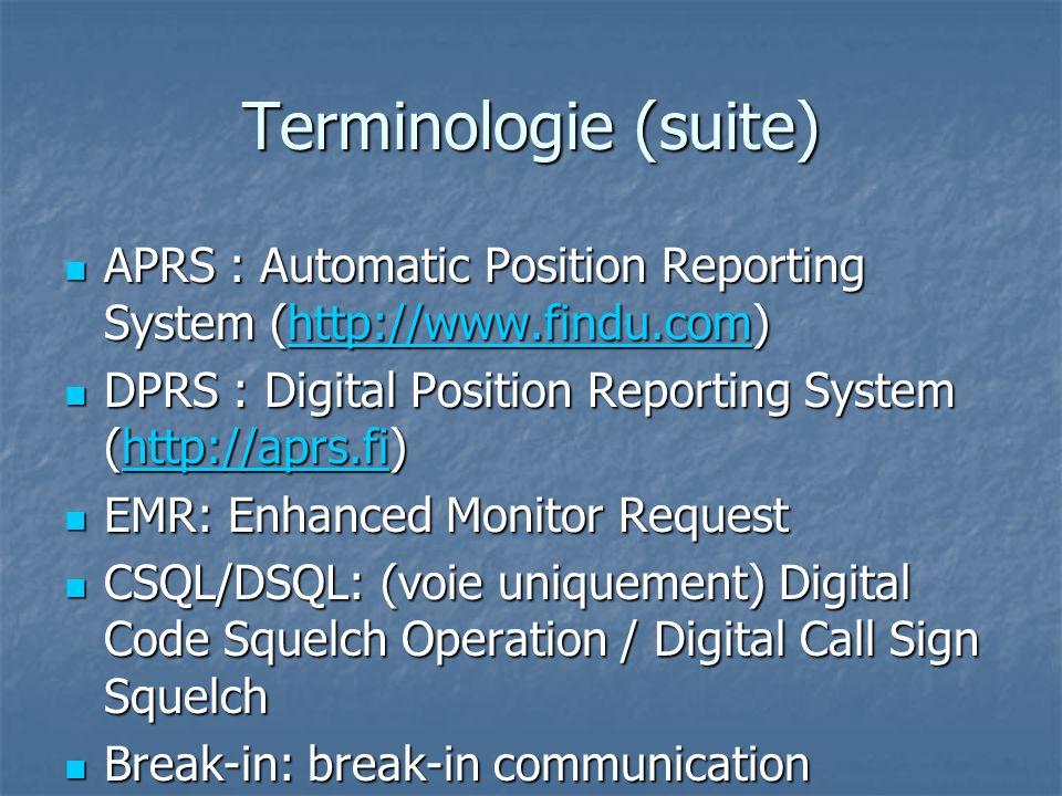 Utilisation en local VHF But: faire des QSOs locaux But: faire des QSOs locaux Your call: CQCQCQ Your call: CQCQCQ RPT1: RPT1: VE2RMF C VE2RMF C RPT2: RPT2: Vide ou VE2RMF G (à conseiller) Vide ou VE2RMF G (à conseiller) Ptt: PARLER .