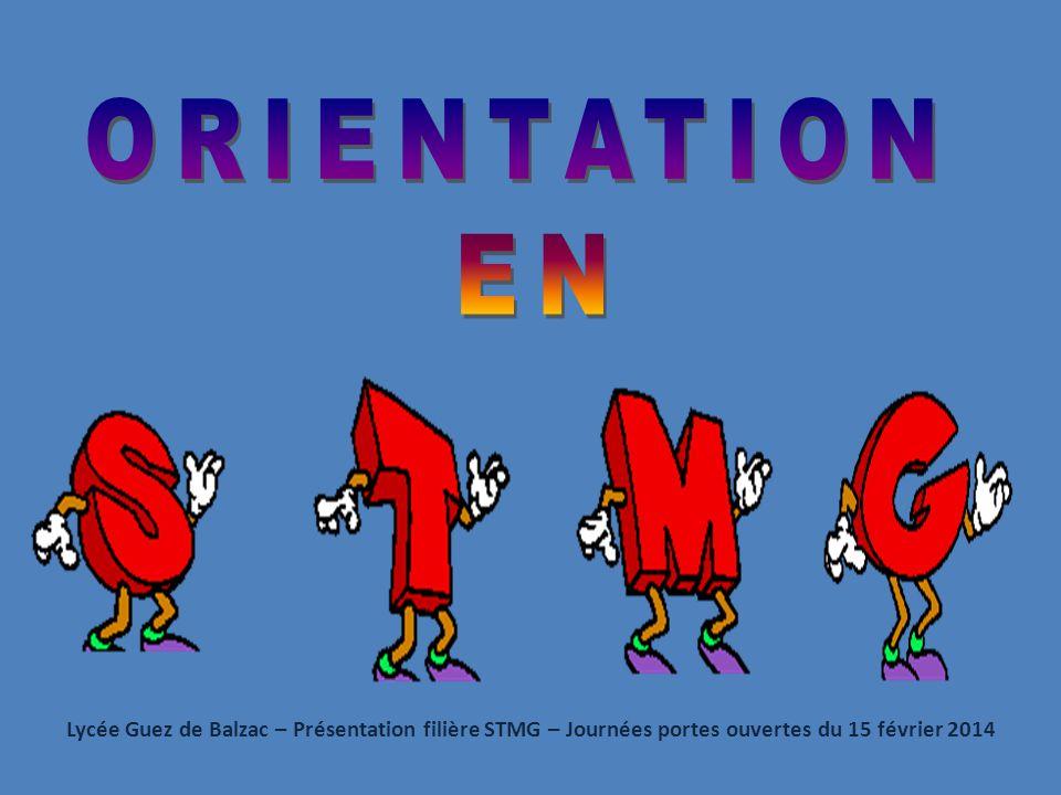 Lycée Guez de Balzac – Présentation filière STMG – Journées portes ouvertes du 15 février 2014