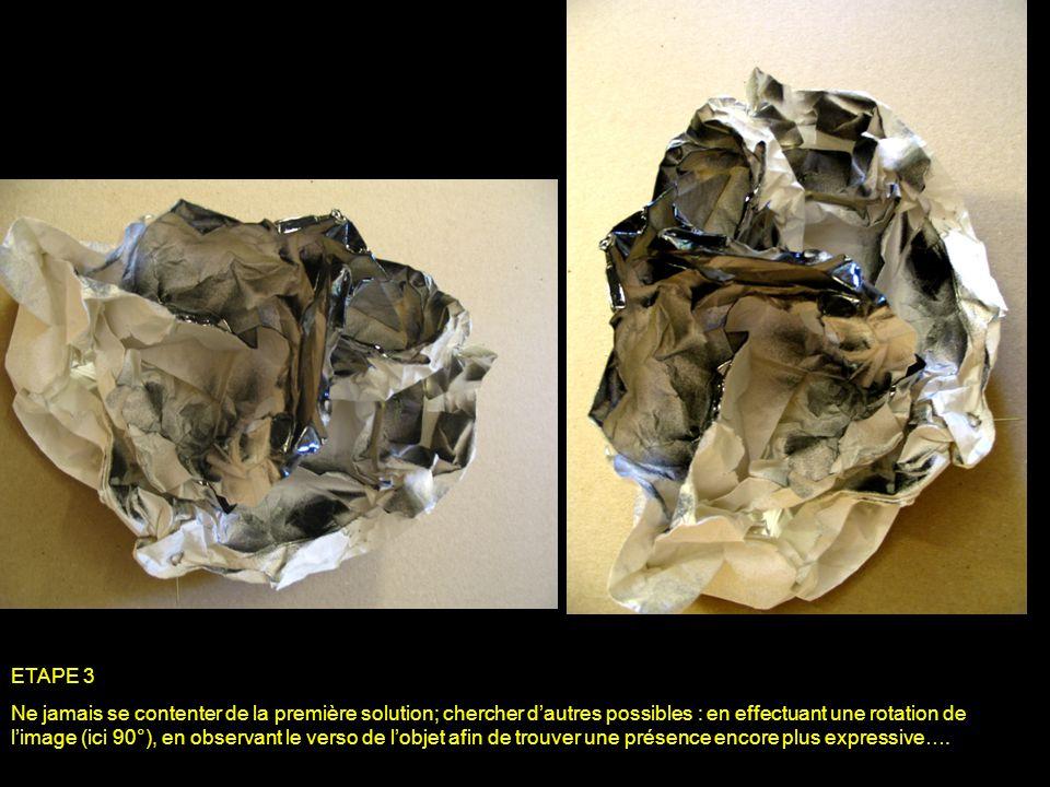 ETAPE 3 Ne jamais se contenter de la première solution; chercher dautres possibles : en effectuant une rotation de limage (ici 90°), en observant le v