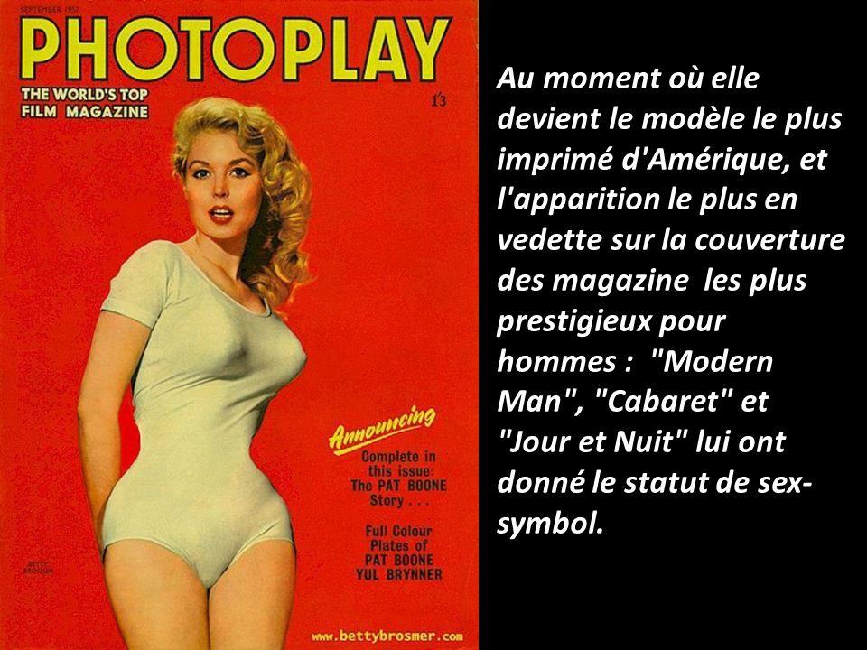 Depuis 1948, et pour toute la norme de la beauté féminine des années 40-50, cétait Betty. Elle a réalisée et obtenue le rôle-titre dans le développeme