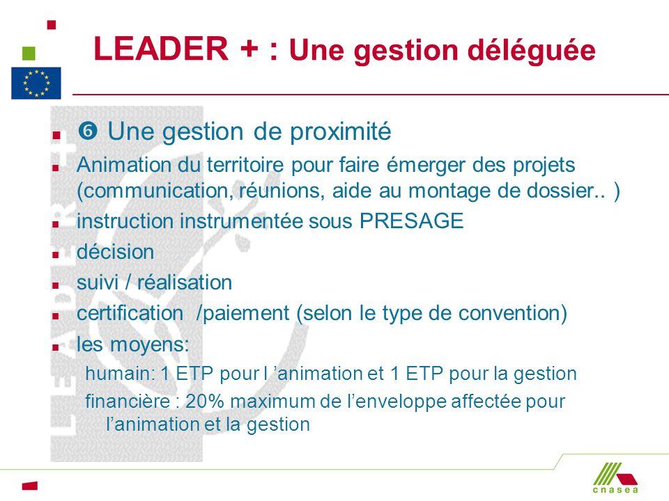 LEADER + : Une gestion déléguée n Une gestion de proximité n Animation du territoire pour faire émerger des projets (communication, réunions, aide au