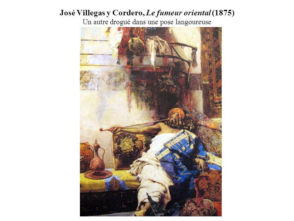José Villegas y Cordero, Le fumeur oriental (1875) Un autre drogué dans une pose langoureuse