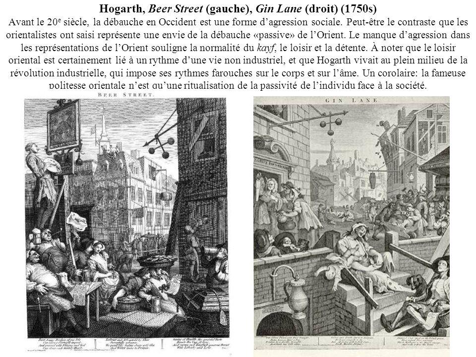 Hogarth, Beer Street (gauche), Gin Lane (droit) (1750s) Avant le 20 e siècle, la débauche en Occident est une forme dagression sociale. Peut-être le c