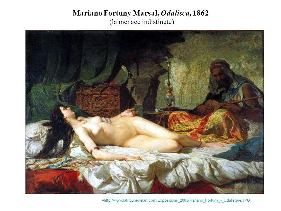 Mariano Fortuny Marsal, Odalisca, 1862 (la menace indistincte) http://www.latribunedelart.com/Expositions_2003/Mariano_Fortuny_-_Odalisque.JPG