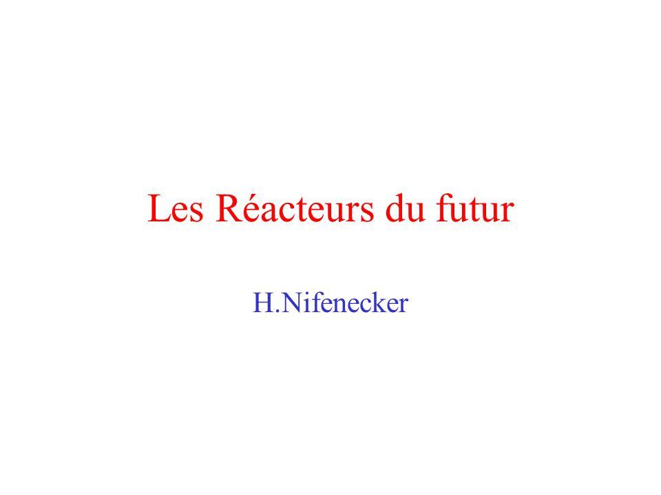 Fonctions dun réacteur Générer des fissions: Elément combustible Extraire les calories: Caloporteur+Echangeurs Contrôle de la réactivité: Barres, Eau borée… Ajustement de la vitesse des neutrons: Ralentisseur